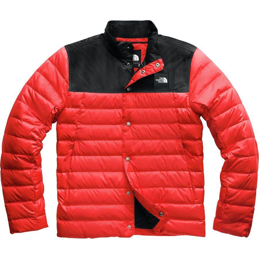 【エントリーでポイント10倍】(取寄)ノースフェイス DRT ダウン ミッド レイアー ジャケット The North Face Men's DRT Down Mid Layer Jacket Fiery Red/Tnf Black