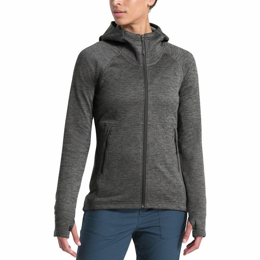 (取寄)ノースフェイス レディース キャニオンランズ フーデッド フリース ジャケット The North Face Women Canyonlands Hooded Fleece Jacket TNF Dark Grey Heather