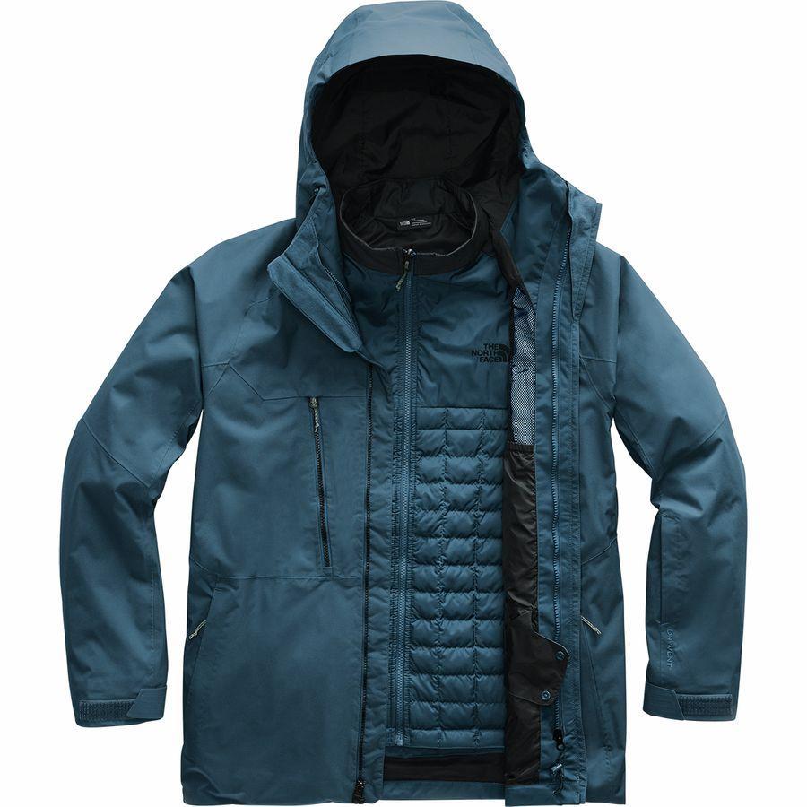 (取寄)ノースフェイス メンズ ThermoBall エコ スノー トリクラメイト ジャケット The North Face Men's ThermoBall Eco Snow Triclimate Jacket Blue Wing Teal