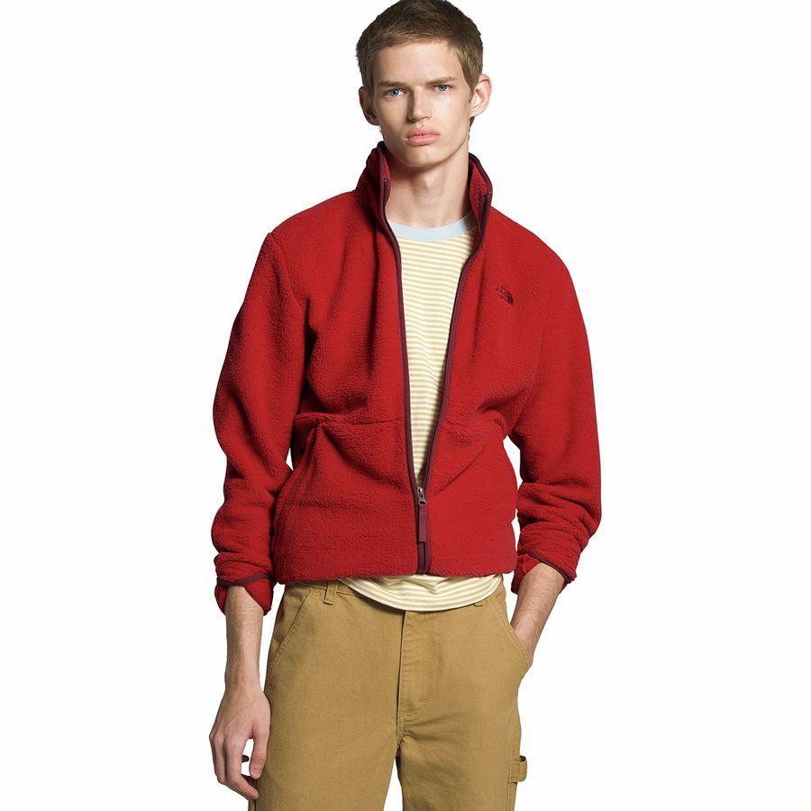 【エントリーでポイント10倍】(取寄)ノースフェイス メンズ ダンレイヴン シェルパ フルジップ ジャケット The North Face Men's Dunraven Sherpa Full-Zip Jacket Pompeian Red