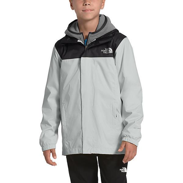 【エントリーでポイント10倍】(取寄)ノースフェイス ボーイズ リゾルブ リフレクティブ ジャケット The North Face Boys' Resolve Reflective Jacket Tin Grey