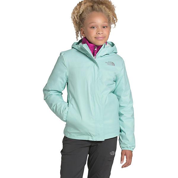 (取寄)ノースフェイス ガールズ リゾルブ リフレクティブ ジャケット The North Face Girls' Resolve Reflective Jacket Coastal Green