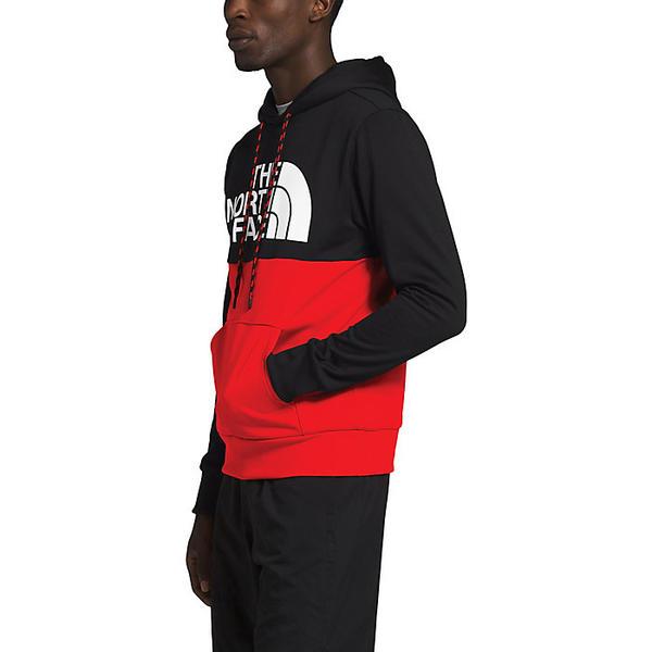 【エントリーでポイント10倍】(取寄)ノースフェイス メンズ サージェント ブロック プルオーバー フーディ The North Face Men's Surgent Bloc Pullover Hoodie TNF Black / Fiery Red