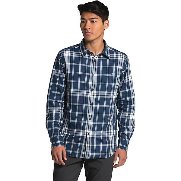 【エントリーでポイント10倍】(取寄)ノースフェイス メンズ ヘイデン パス 2.0 LS シャツ The North Face Men's Hayden Pass 2.0 LS Shirt Shady Blue Laurel Plaid