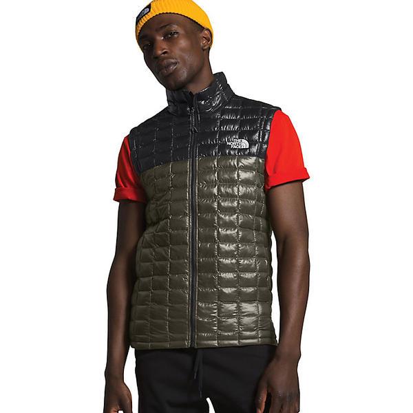(取寄)ノースフェイス メンズ サーモボール エコ ベスト The North Face Men's ThermoBall Eco Vest New Taupe Green / TNF Black