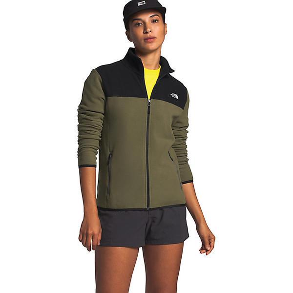 (取寄)ノースフェイス レディース TKA グレイシャー フル ジップ ジャケット The North Face Women's TKA Glacier Full Zip Jacket Burnt Olive Green / TNF Black