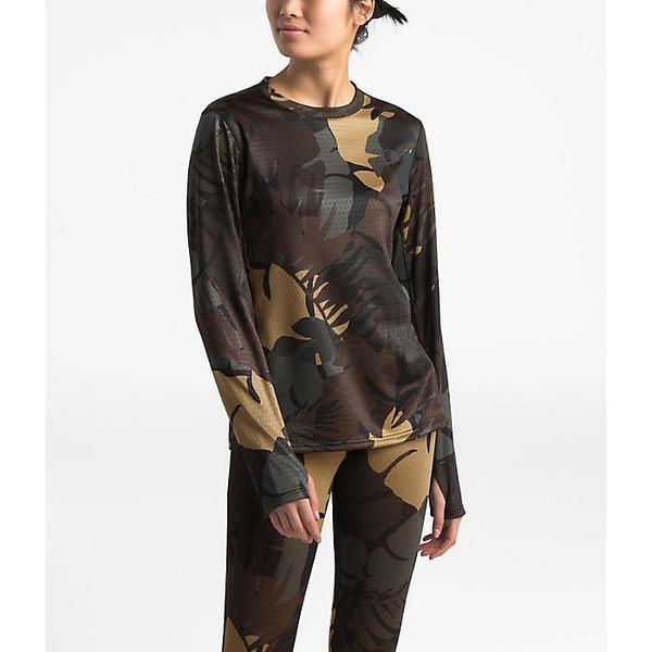 (取寄)ノースフェイス レディース ウルトラウォーム ポーリー クルー The North Face Women's Ultra-Warm Poly Crew New Taupe Green Palms Print