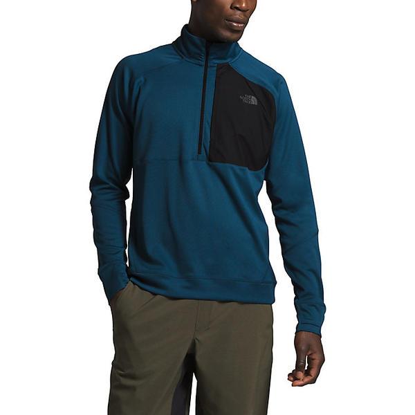 【エントリーでポイント10倍】(取寄)ノースフェイス メンズ エッセンシャル 1/4 ジップ ミドルレイヤー トップ The North Face Men's Essential 1/4 Zip Mid-Layer Top Blue Wing Teal