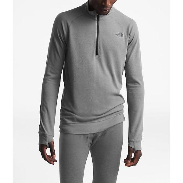 【エントリーでポイント10倍】(取寄)ノースフェイス メンズ ウォーム ウール ブレンド LS ジップ ネック トップ The North Face Men's Warm Wool Blend LS Zip Neck Top TNF Medium Grey Heather