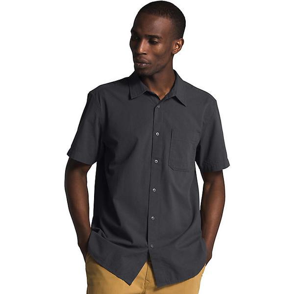 【エントリーでポイント10倍】(取寄)ノースフェイス メンズ ベイトレイル パターン SS シャツ The North Face Men's Baytrail Pattern SS Shirt Asphalt Grey