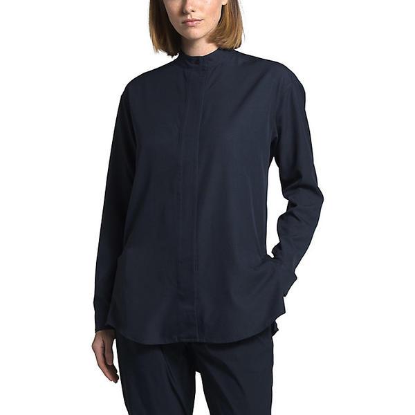 (取寄)ノースフェイス レディース エクスプロア シティ BD LS シャツ The North Face Women's Explore City BD LS Shirt Urban Navy