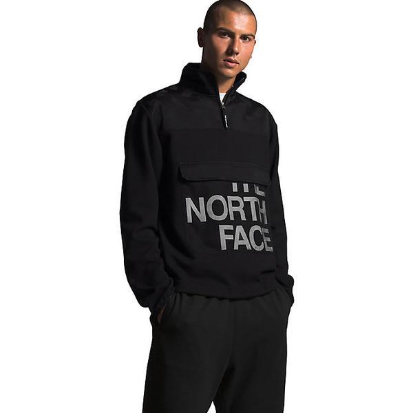 【エントリーでポイント10倍】(取寄)ノースフェイス メンズ グラフィック コレクション 1/4 ジップ ジャケット The North Face Men's Graphic Collection 1/4 Zip Jacket TNF Black