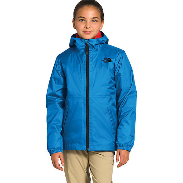 【エントリーでポイント10倍】(取寄)ノースフェイス ユース ジップライン レイン ジャケット The North Face Youth Zipline Rain Jacket Clear Lake Blue