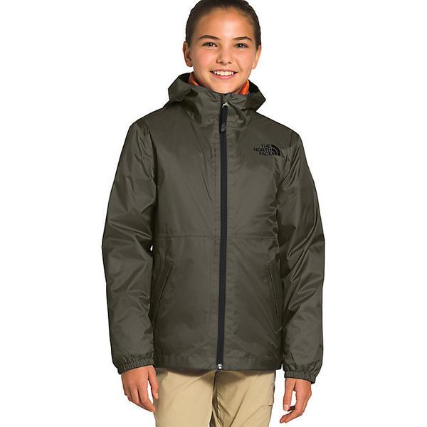 【エントリーでポイント10倍】(取寄)ノースフェイス ユース ジップライン レイン ジャケット The North Face Youth Zipline Rain Jacket New Taupe Green