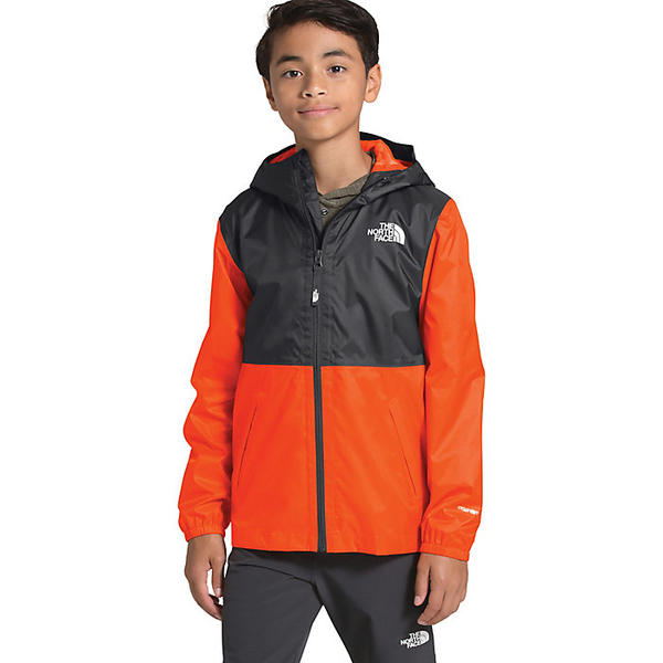 【エントリーでポイント10倍】(取寄)ノースフェイス ユース ジップライン レイン ジャケット The North Face Youth Zipline Rain Jacket Persian Orange