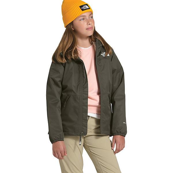 【エントリーでポイント10倍】(取寄)ノースフェイス ガールズ ウォーム ストーム レイン ジャケット The North Face Girls' Warm Storm Rain Jacket New Taupe Green