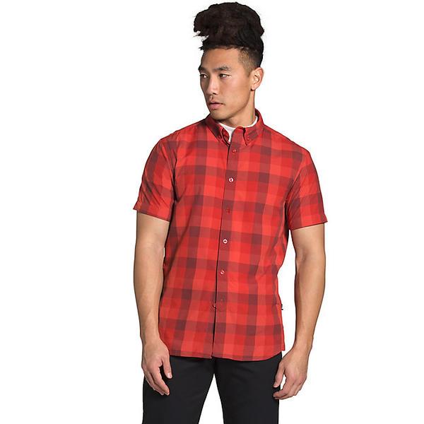 【エントリーでポイント10倍】(取寄)ノースフェイス メンズ モナドノック SS 2 シャツ The North Face Men's Monanock SS II Shirt Sunbaked Red Timber Plaid