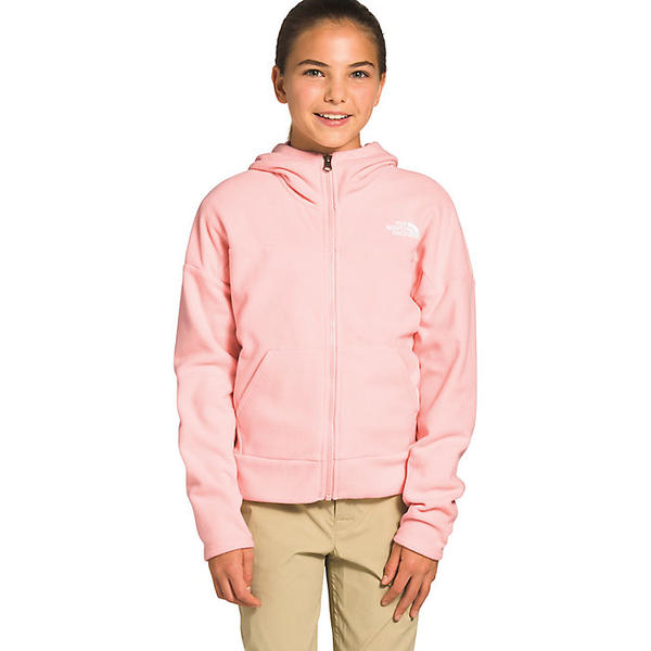 (取寄)ノースフェイス ガールズ グレイシャー フル ジップ フーディ The North Face Girls' Glacier Full Zip Hoodie Impatiens Pink