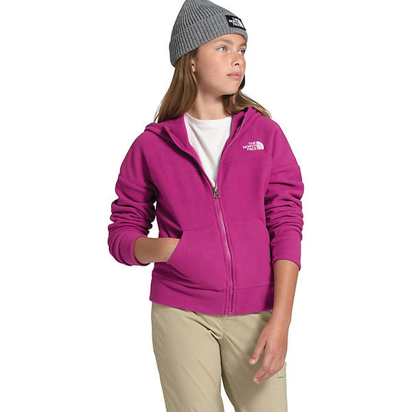 (取寄)ノースフェイス ガールズ グレイシャー フル ジップ フーディ The North Face Girls' Glacier Full Zip Hoodie Wild Aster Purple