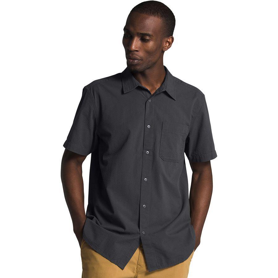 【エントリーでポイント10倍】(取寄)ノースフェイス メンズ ショート スリーブ ベイトレイル パターン シャツ The North Face Men's Short Sleeve Baytrail Pattern Shirt Asphalt Grey