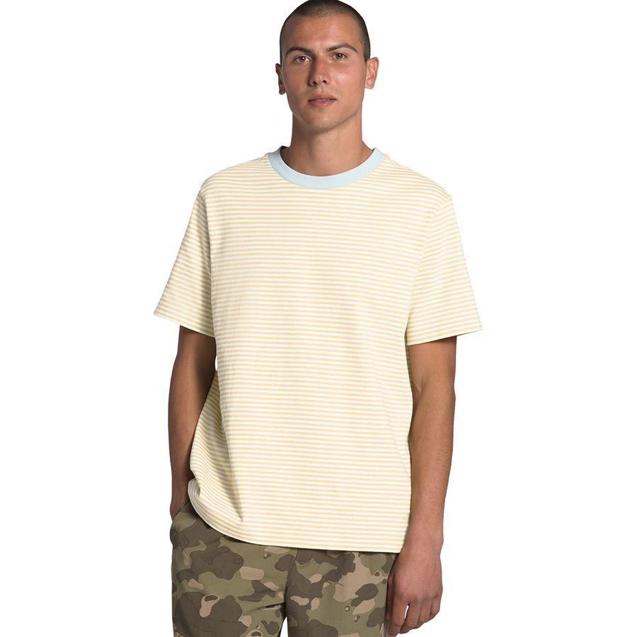 【エントリーでポイント10倍】(取寄)ノースフェイス メンズ バークレー ストライプ Short-SleeveT-Shirt- ショートスリーブ Tシャツ The North Face Men's Berkeley Stripe Short-Sleeve T-Shirt Vintage White Valley Stripe