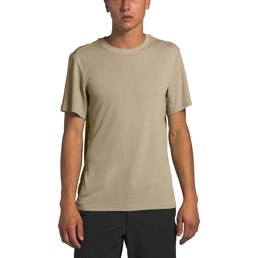 【エントリーでポイント10倍】(取寄)ノースフェイス メンズ エクスプロア シティ Short-SleeveT-Shirt- ショートスリーブ Tシャツ The North Face Men's Explore City Short-Sleeve T-Shirt Twill Beige
