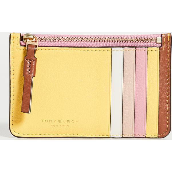 (取寄)トリーバーチ プリティ カラーブロック カード ケース Tory Burch Perry Colorblock Card Case GoanSand ElectricYellow Pink