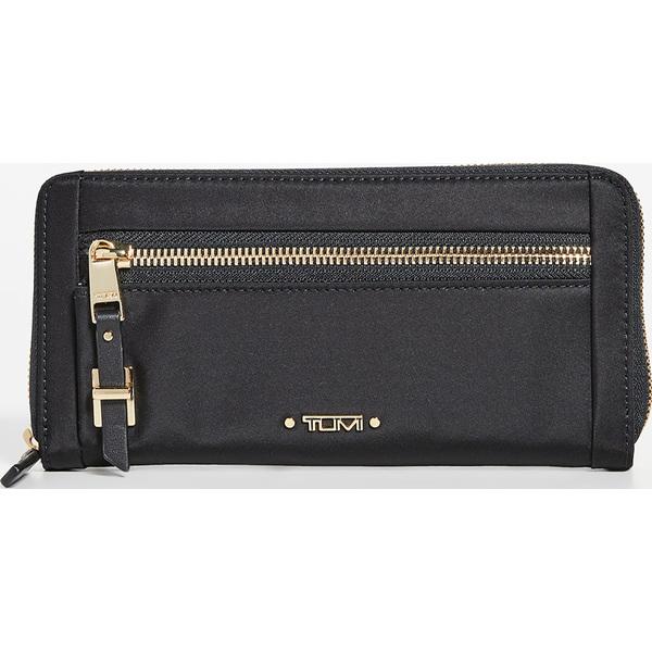 (取寄)トゥミ ジップアラウンド コンチネンタル ウォレット Tumi Zip-Around Continental Wallet Black