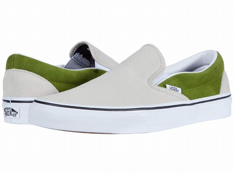 (取寄)Vans(バンズ) スニーカー クラシック スリップーオン ユニセックス メンズ レディース Vans Unisex Classic Slip (Suede) Rainy Day/Calla Green