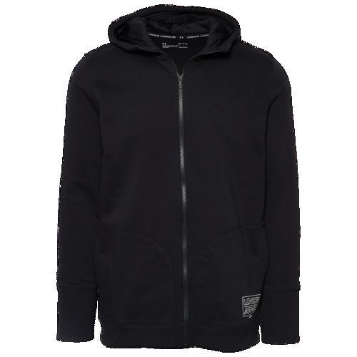 (取寄)アンダーアーマー メンズ ベースライン フリース F/Z フーディ Underarmour Men's Baseline Fleece F/Z Hoodie Black Pitch Grey