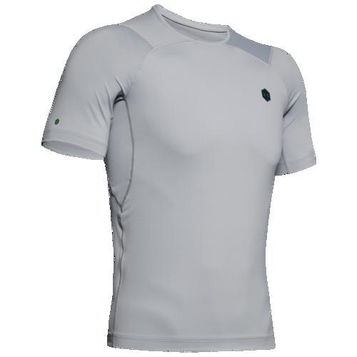 (取寄)アンダーアーマー メンズ ラッシュ コンプレッション Tシャツ Underarmour Men's Rush Compression T-Shirt Mod Grey Black