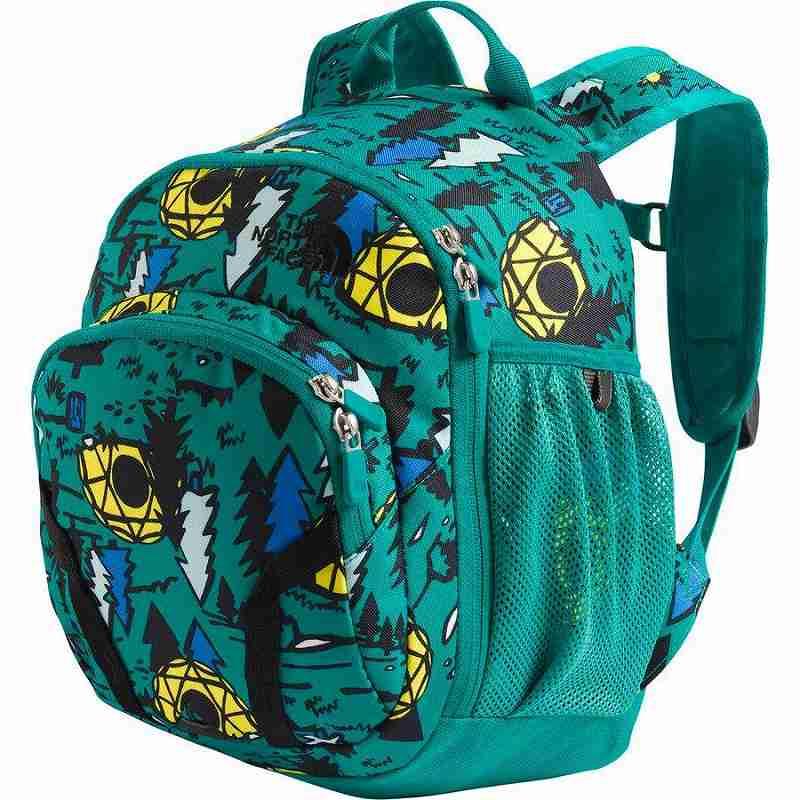 (取寄)ノースフェイス キッズ スプラウト 10L バックパック The North Face Men's Sprout 10L Backpack Jaiden Green Happy Camp Print/Jaiden Green