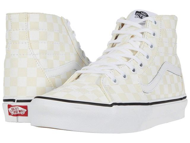 (取寄)Vans(バンズ) スニーカー スケート―ハイ Tapered ユニセックス メンズ レディース Vans Unisex Sk8 (Checkerboard) White/True White