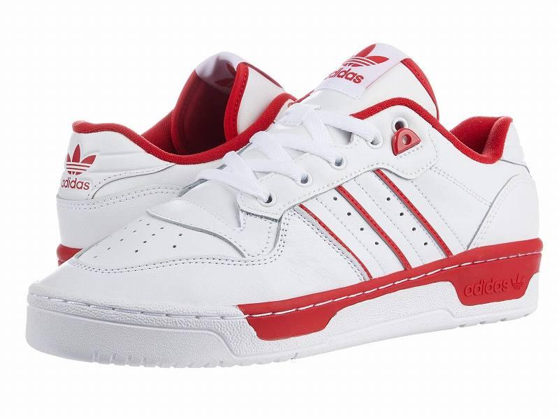 (取寄)アディダス オリジナルス メンズ アディダス オリジナル ライバルリ ロウ  adidas originals Men's adidas Originals Rivalry Low Footwear White/Footwear White/Scarlet
