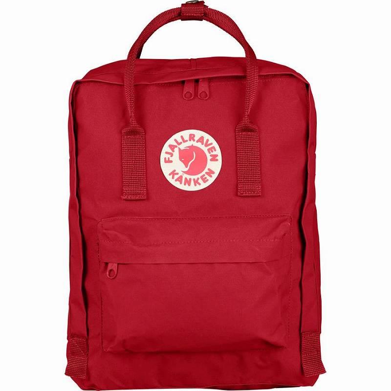 (取寄) フェールラーベン ユニセックス カンケン 16L バックパック Fjallraven Men's Kanken 16L Backpack Deep Red