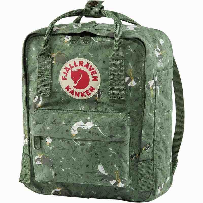 (取寄) フェールラーベン ユニセックス カンケン アート ミニ 7L バックパック Fjallraven Men's Kanken Art Mini 7L Backpack Green Fable