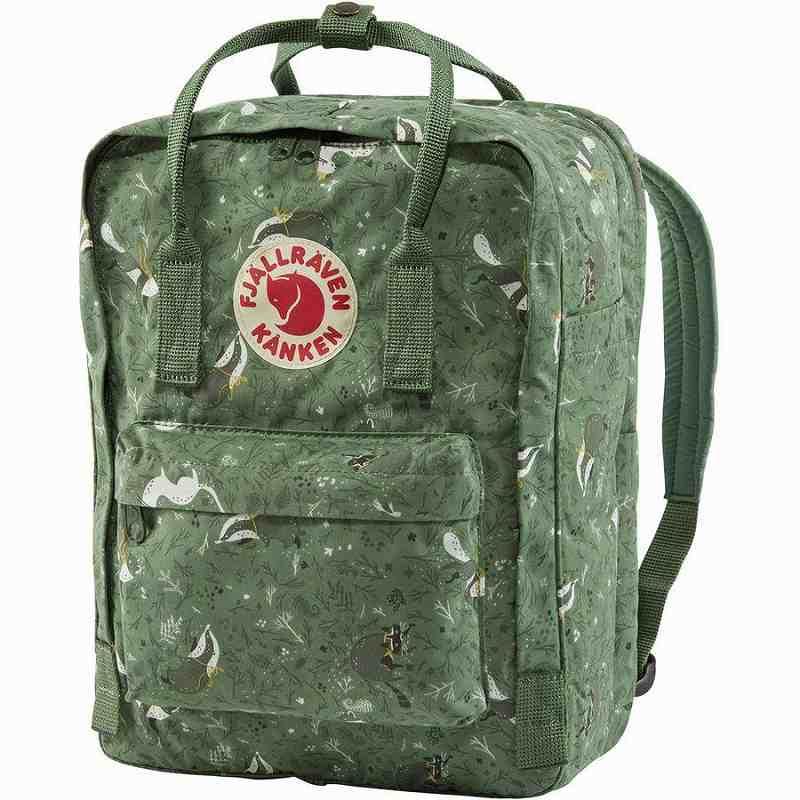 (取寄) フェールラーベン ユニセックス カンケン アート 13inラップトップ バックパック Fjallraven Men's Kanken Art 13in Laptop Backpack Green Fable