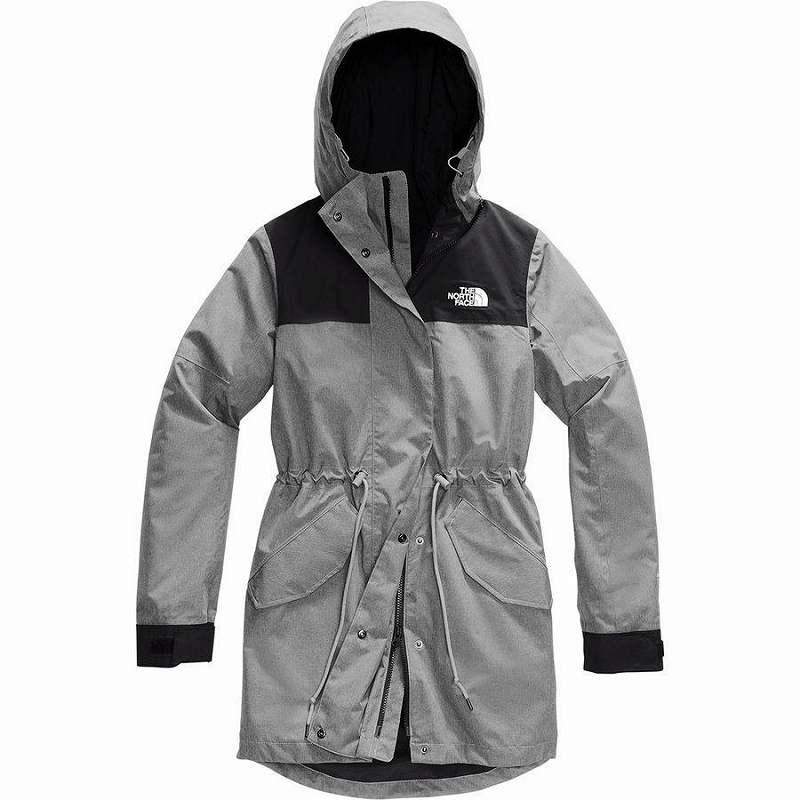 (取寄)ノースフェイス レディース メトロビュー トレンチ コート The North Face Women Metroview Coat Trench Tnf Medium Grey Heather/Tnf Black