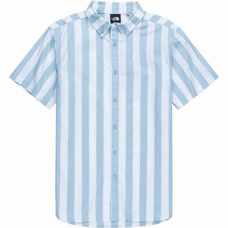 【エントリーでポイント10倍】(取寄)ノースフェイス メンズ モナノック ショートスリーブ シャツ The North Face Men's Monanock Short-Sleeve Shirt Faded Blue Elevation Stripe