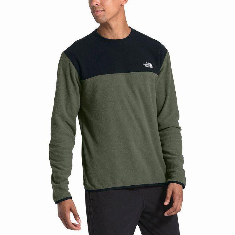 【エントリーでポイント10倍】(取寄)ノースフェイス メンズ グレイシャー クルー トレーナー プルオーバー The North Face Men's Glacier Crew Sweatshirt Pullover New Taupe Green/Tnf Black