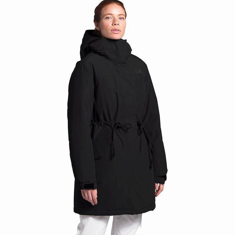 (取寄)ノースフェイス レディース メトロビュー トレンチ コート The North Face Women Metroview Coat Trench Tnf Black