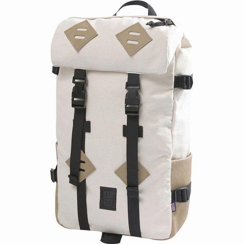 【マラソン ポイント10倍】(取寄)トポデザイン ユニセックス クレッターサック 25L バックパック Topo Designs Men's Klettersack 25L Backpack Natural/Khaki Leather