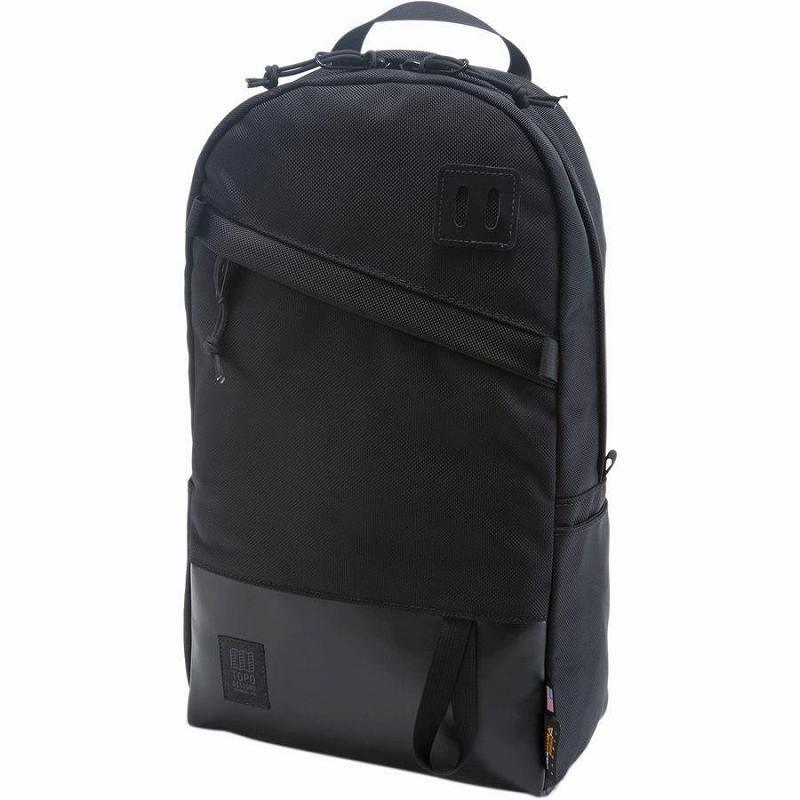 (取寄)トポデザイン ユニセックス デイパック 20L バックパック Topo Designs Men's Daypack 20L Backpack Ballistic Black/Black Leather