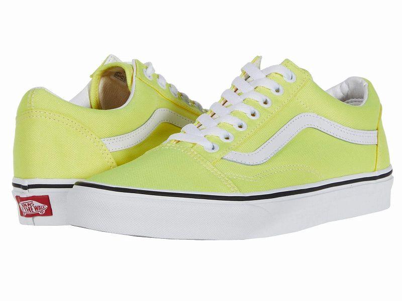 (取寄)Vans(バンズ) スニーカー オールド スクール ユニセックス メンズ レディース Vans Unisex Old Skool (Neon) Lemon Tonic/True White