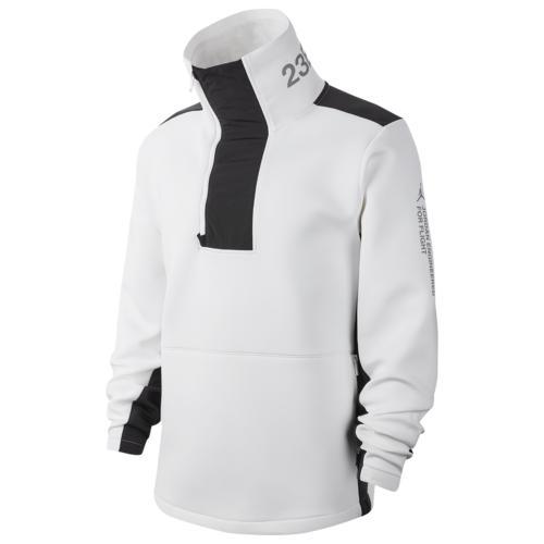 【マラソン ポイント10倍】(取寄)ジョーダン メンズ 23 エンジニア フリース クウォータージップ Jordan Men's 23 Engineered Fleece Quarter-Zip White