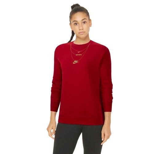 (取寄)ナイキ レディース フリース クルー Nike Women's Fleece Crew Gold Red