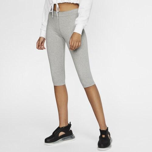 (取寄)ナイキ レディース レガシー91 ニー レンス レギンス Nike Women's Leg-A-See Knee Length Legging Dark Grey Heather Black