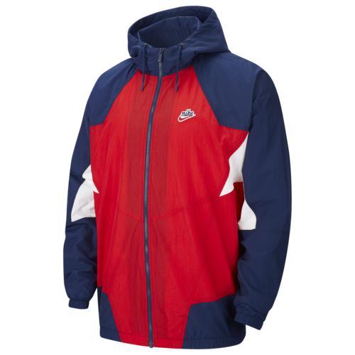 【エントリーでポイント10倍】(取寄)ナイキ メンズ シグネチャ ウインドランナー ウーブン ジャケット Nike Men's Signature Windrunner Woven Jacket University Red Blue Void