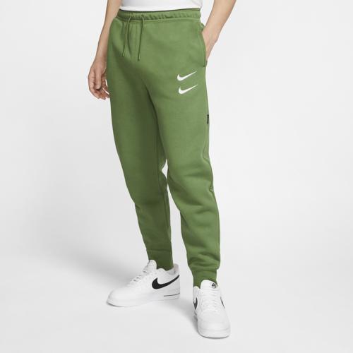 (取寄)ナイキ メンズ スウッシュ フリース パンツ Nike Men's Swoosh Fleece Pants Green White