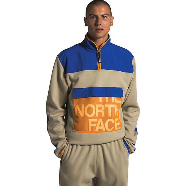 (取寄)ノースフェイス メンズ グラフィック コレクション 1/4 ジップ ジャケット The North Face Men's Graphic Collection 1/4 Zip Jacket Twill Beige / TNF Blue / Flame Orange
